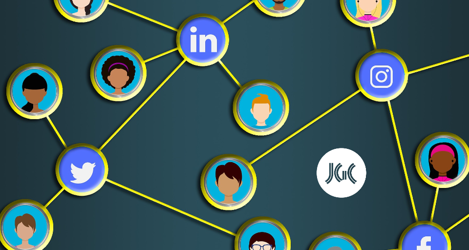social media connected icons